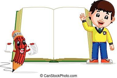 Niños con un gran libro
