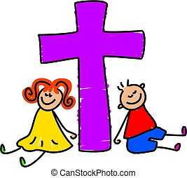 niños, cristiano