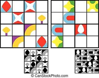 Niños de color sudoku puzzle