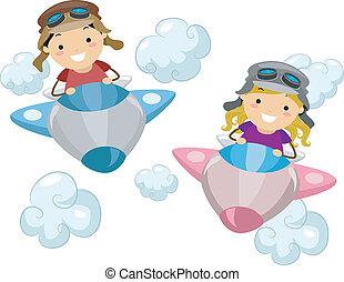 Niños del avión