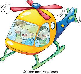 Niños en helicóptero