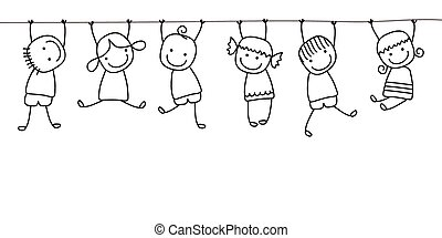 Niños felices jugando