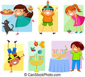 niños, hanukkah