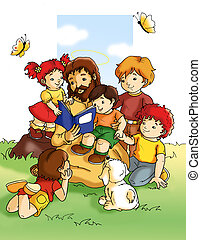 niños, jesús