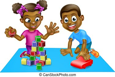 niños, juguetes, juego