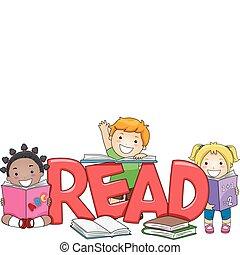 niños, lectura