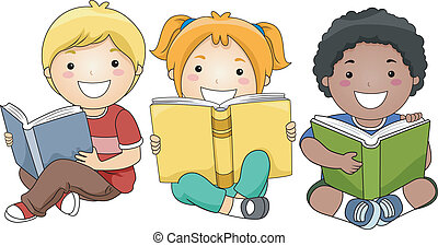 Niños leyendo libros