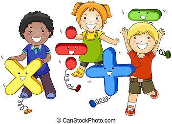 niños, matemáticas