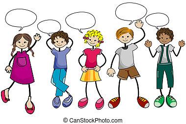 Niños parlantes