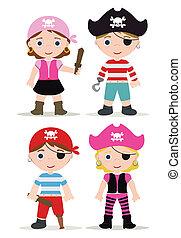 Niños piratas