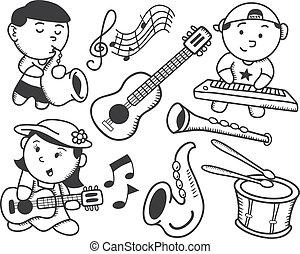 Niños tocando música