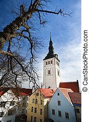 nicholas, iglesia, s., pueblo, viejo