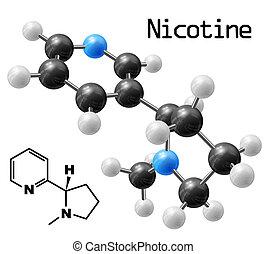 nicotina, molécula