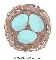 Nido con huevos