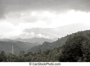 niebla infrarroja