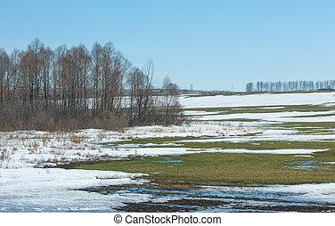 Nieve de primavera el invierno pasado