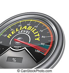 nivel, por, indicar, confiabilidad, centavo, conceptual, metro, cien