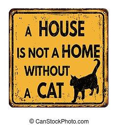 no, casa, sin, hogar, gato