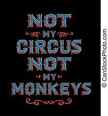 no, circo, mi, monos