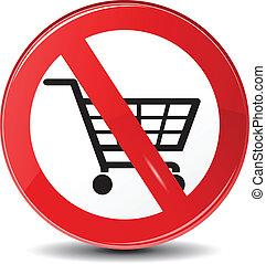 no, compras, vector, permitido, restricción
