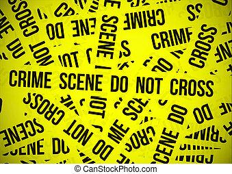 no, crimen, cruz, escena