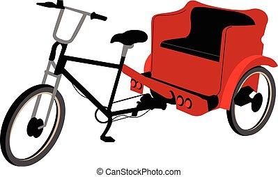 no, cubierta, pedicab