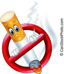 No fumar símbolo de dibujos animados
