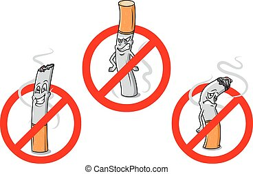 No fumes señales de dibujos animados