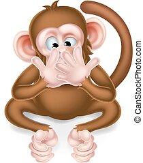 No hables de un malvado mono sabio de dibujos animados