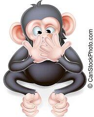 No hables mal de mono de dibujos animados