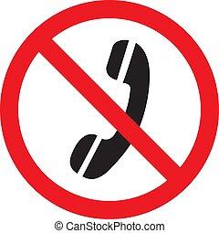 No hay icono de señal de teléfono en un fondo blanco. Ilustración de vectores
