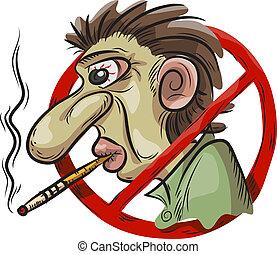 No hay símbolo de fumar