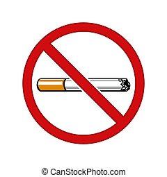 No hay señal de vector de humo aislada en blanco