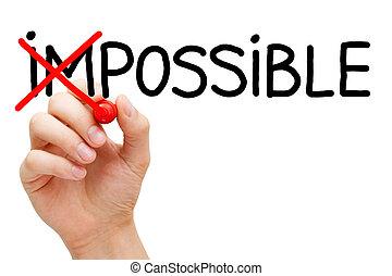 no, imposible, posible