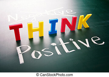 no, negativo, pensar, positivo