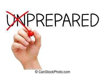 no, sin preparación, preparado