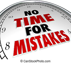 no, trabajo, errores, fecha tope, reloj de tiempo, exactitud