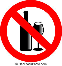 no, vector, alcohol, señal