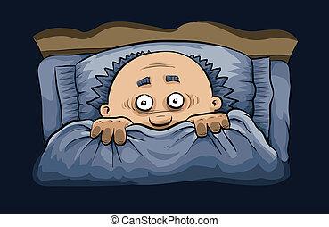 Noche aterradora en la cama