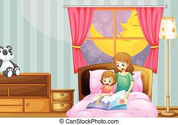 noche, cuento para dormir, narración, madre
