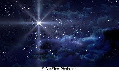 Noche de estrellas azules