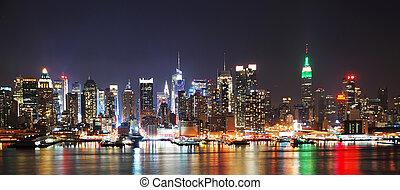 Noche de Nueva York SKYline PANORAMA