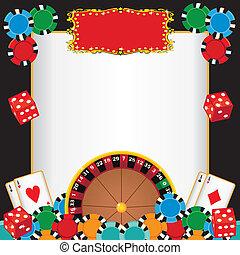 noche, invitación, casino, fiesta, acontecimiento