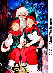 Noel y elfos