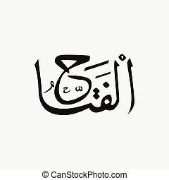 Nombre de Dios del Islam - Alá en escritura árabe, nombre de Dios en árabe
