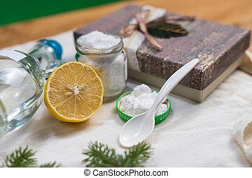 non-toxic, hornada, products., limpieza, tarro, soda, lemon.