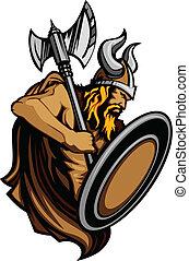 norseman, ingenio, viking, mascota, posición