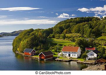 noruega, meridional, paisaje