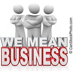 nosotros, empresarios, brazos, competidores, cruzado, serio, medio