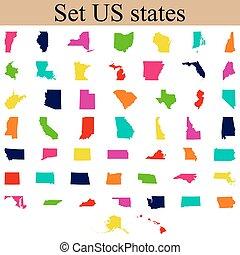 nosotros, estado, conjunto, mapas